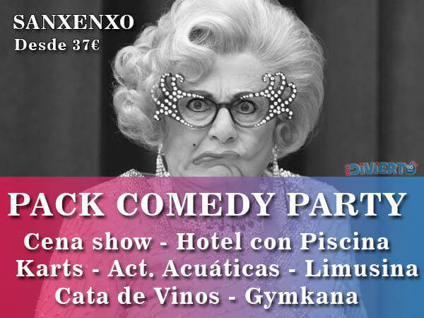 pack-comedy-party-sanxenxo-blanco-negro